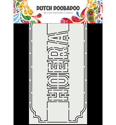 Dutch Doobadoo Card Art Slimline Hoera